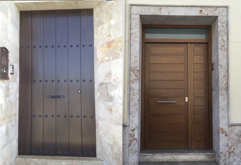 Puertas de madera para exterior rivas sanchez carpinteros for Puertas de madera de ocasion