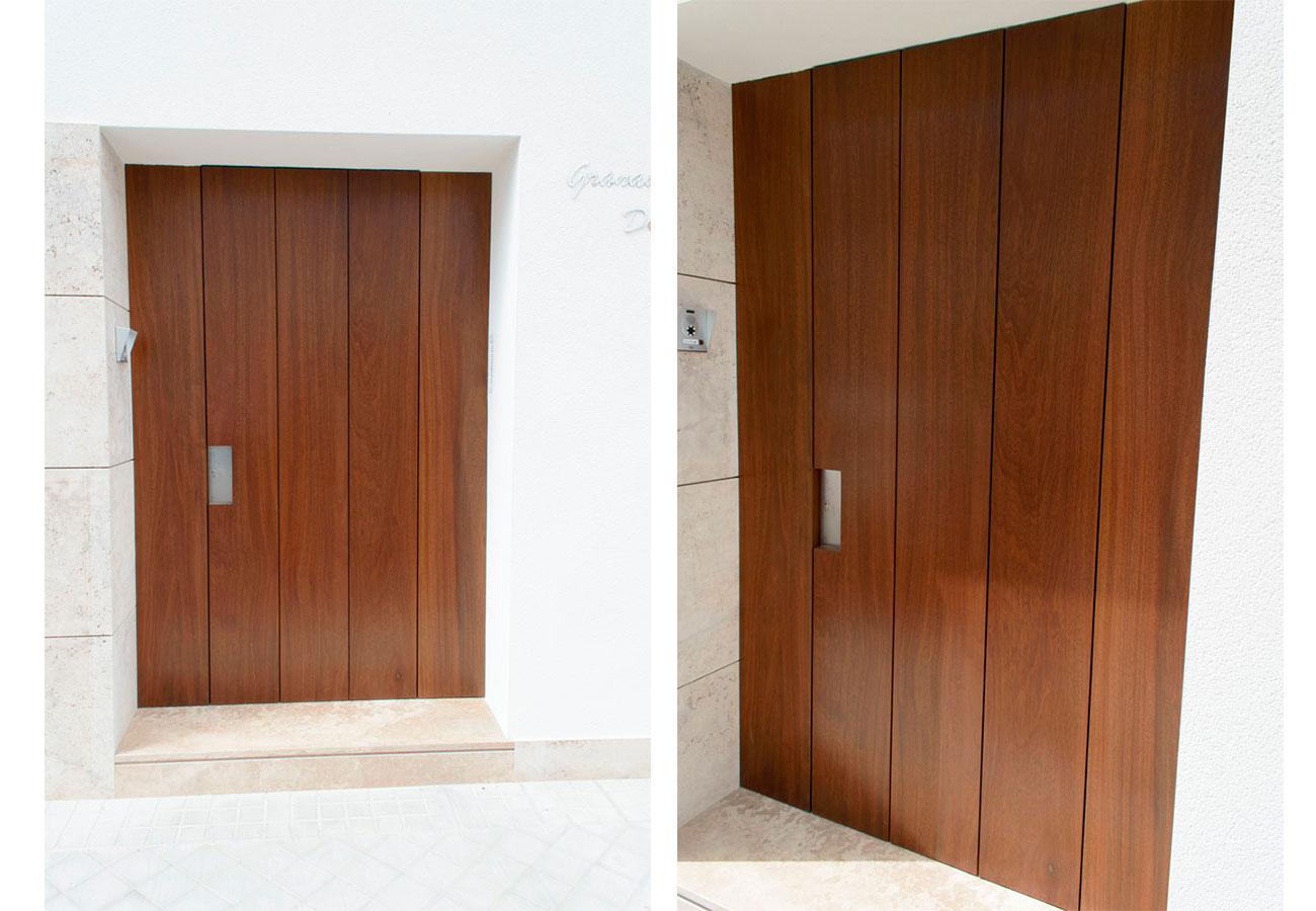 Puerta exterior- madera Rivas Sanchez Carpinteros