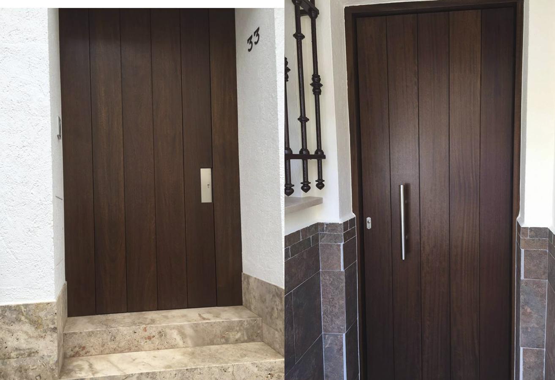 Puerta exterior Rivas Sanchez Carpinteros